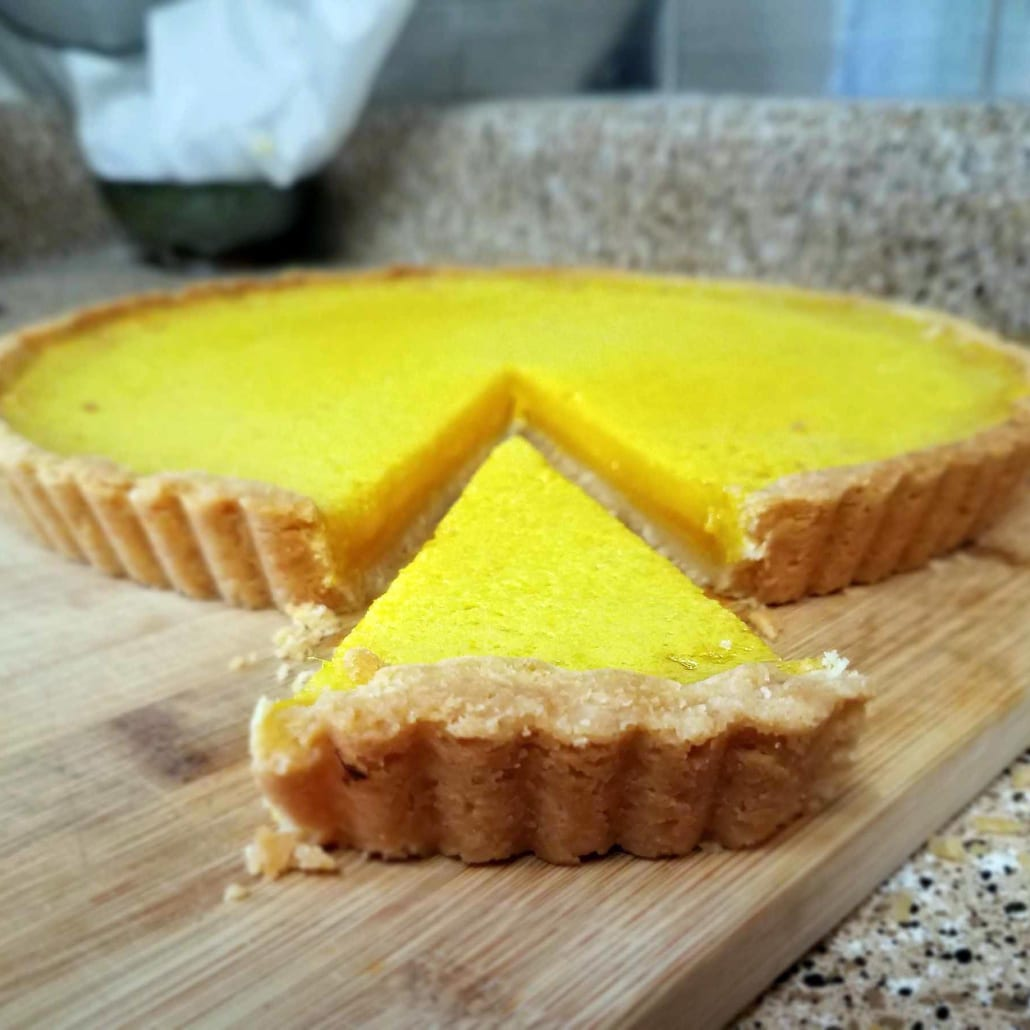 Bake until your lemon ginger tart is fully set.