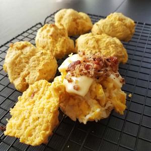 Sweet Potato Biscuit Breakfast Sandwiches