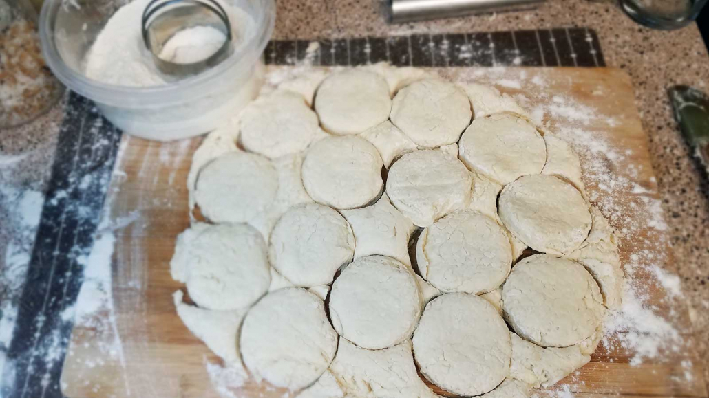 Step 6 Cutting Biscuits