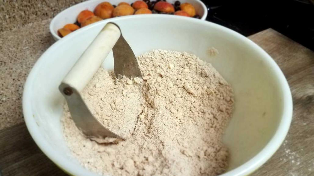 Making a crumb topping by hand
