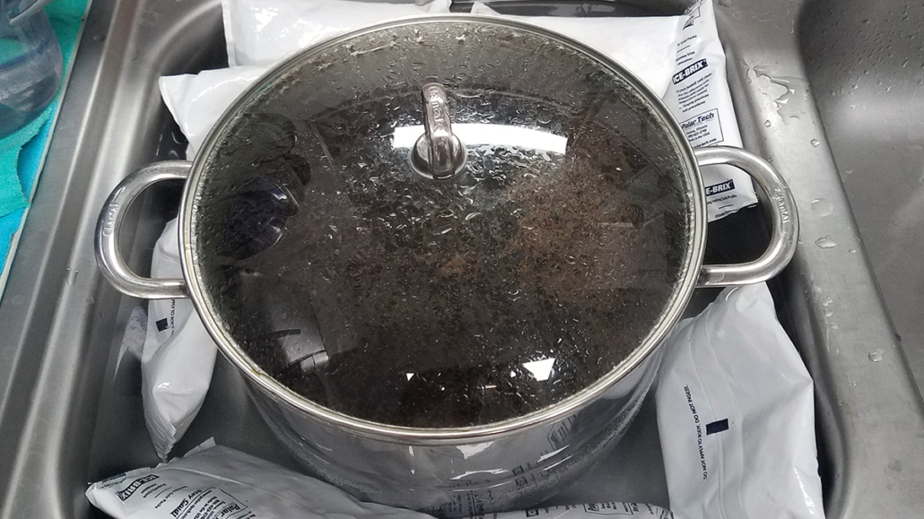 Cooling Heather Ale Wort
