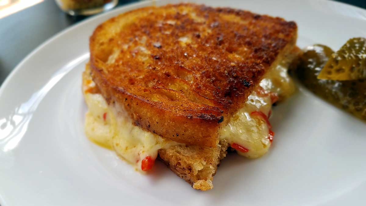 Pickled Pimento Grilled Cheese Sandwich